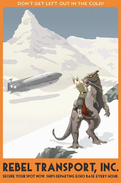 Affiche Star Wars Retro